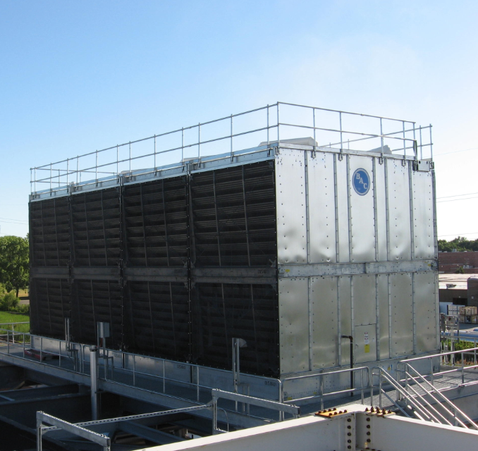 BAC Cooling Tower fitted with air intake screens